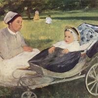 Эдгар Дега. Ребёнок с гувернанткой. Портрет Анри Вальпинсона в младенчестве