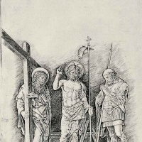 The risen Christ between St. Andrew and St. Longinus