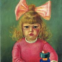 Портрет маленькой девочки с бантом