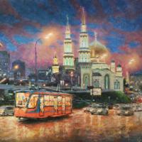 Moscow evening light