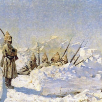 Snow trenches (Russian positions in the SHIPKA pass)