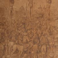 Ян ван Эйк. Рисунок к картине «Распятие»