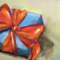 Анджела Моултон. Синий подарок с оранжевым бантом