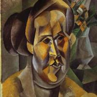Пабло Пикассо. Бюст женщины с цветами (Фернанда)