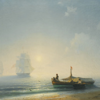 Fishermen at dawn, Naples