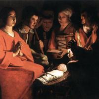 Жорж де Латур. Поклонение пастухов