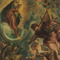 The battle of Archangel Michael with Satan