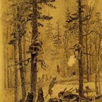 Алексей Степанович Степанович (1858-1923). Охота на волков.