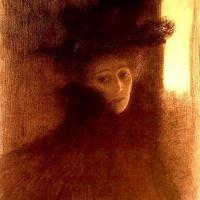 Густав Климт. Портрет дамы в пелерине и шляпе