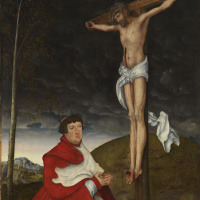 Распятие с кардиналом Альбрехтом фон Брандербургским