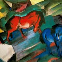Франц Марк. Красный и синий конь