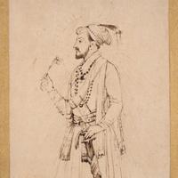 Шах Джахан с цветком и мечом