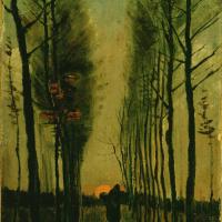 Винсент Ван Гог. Тополиная аллея на закате