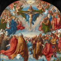 Albrecht Durer. The Worship Of The Holy Trinity (Landauer Altar)