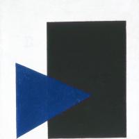 Казимир Северинович Малевич. Супрематическая композиция (с синим треугольником и черным прямоугольником)
