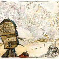 "Illustration for the novel ""don Quixote"""