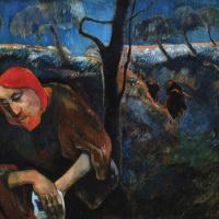 Christ in the garden of Gethsemane (self-portrait)