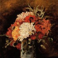 Vincent van Gogh. Vase with carnations
