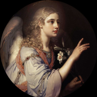Archangel Gabriel. The icon of Tsar's gates of main iconostasis of the Kazan Cathedral in St. Petersburg