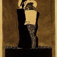 Эгон Шиле. Два мужчины с нимбами