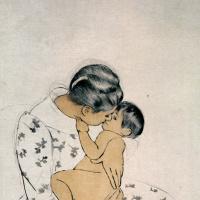 Мэри Кассат. Материнский поцелуй