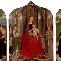 Мария с младенцем среди музицирующих ангелов
