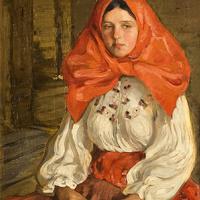 Elena Andreevna Kiseleva. The girl in the red