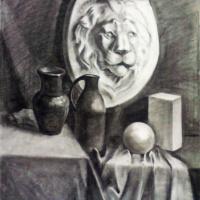 Егор Тагинцев. Натюрморт с гипсом