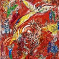 Марк Захарович Шагал. Триумф музыки. Финальный рисунок фрески для Метрополитен-оперы