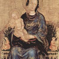 Джентиле да Фабриано. Мадонна на троне с музицирующими ангелами