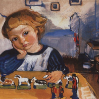 Зинаида Евгеньевна Серебрякова. Портрет Жени Серебрякова