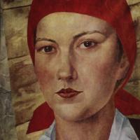 Девушка в красном платке (Работница)
