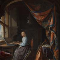 Геррит (Герард) Доу. Женщина за клавикордом