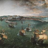 Battleship in Neapolitan harbor