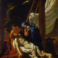 Nicola Poussin. The descent from the cross