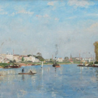 The canal Saint-Denis near Paris