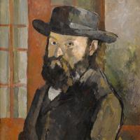 Paul Cezanne. Portrait of the artist wearing a wide-brimmed hat