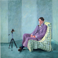 Peter Schlesinger with Polaroid camera