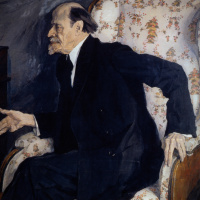Portrait of the artist M. V. Nesterov. State Tretyakov Gallery, Moscow