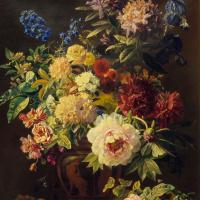 Георг Якоб Иоганн ван Ос. Цветочный натюрморт в греческой вазе