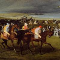 Jockeys before the start
