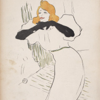 Yvette Guilbert, illustration from Le Rire 22 Dec 1894