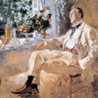 Konstantin Korovin. Portrait of the artist Feodor Chaliapin