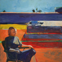 Richard Dibenkorn. Woman on the veranda
