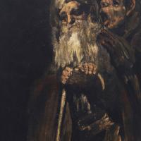 Франсиско Гойя. Серия мрачных картин. Два монаха