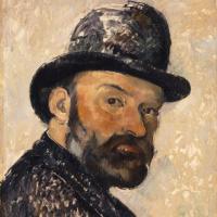 Paul Cezanne. Self-portrait in bowler hat