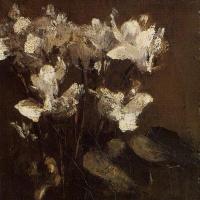 Анри Фантен-Латур. Цветы цикламены