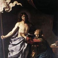 Джованни Франческо Гверчино. Воскресший Христос является Богородице