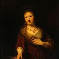 Рембрандт Харменс ван Рейн. Саския с красным цветком
