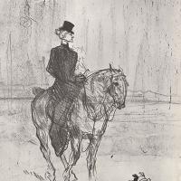 Анри де Тулуз-Лотрек. Наездница и собака